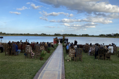 We can LIVE STREAM YOUR WEDDING your private dock in your backyard.